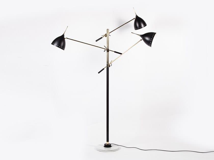 Brass floor lamp CORNO DUCALE - 1010 by Stilnovo