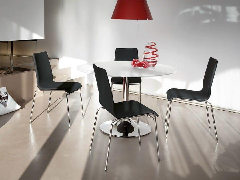Round Glass Table CORONA 120 By DOMITALIA