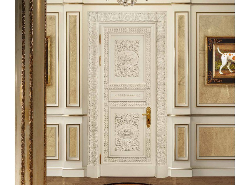 Hinged wooden door CORONA | Door by Arnaboldi Interiors