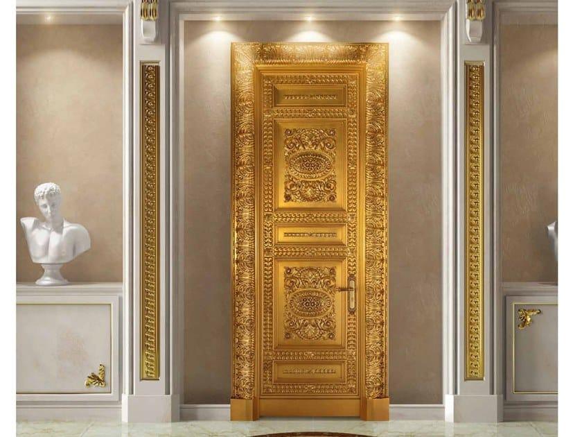 Hinged gold leaf door CORONA | Gold leaf door by Arnaboldi Interiors
