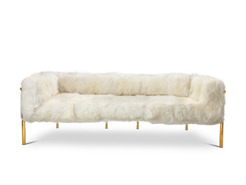 3 seater Sheepskin sofa CORONUM | 3 seater sofa by Scarlet Splendour