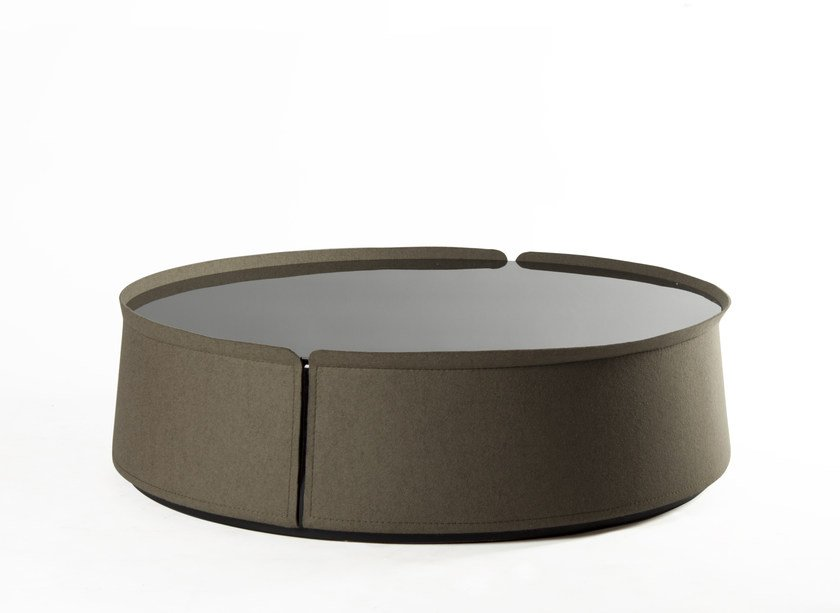 Round glass coffee table for living room CORUM | Coffee table for living room by ROCHE BOBOIS