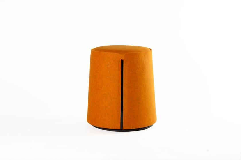 Fabric pouf CORUM by ROCHE BOBOIS