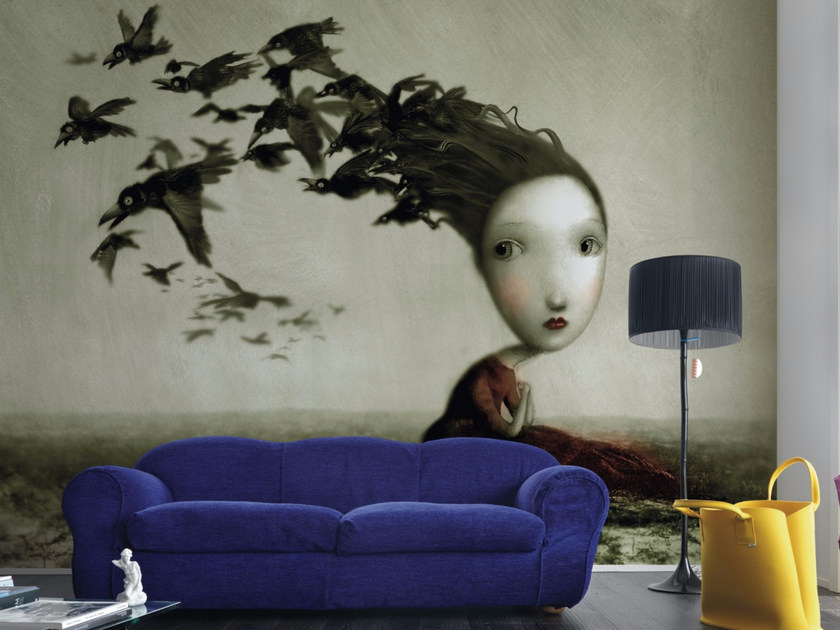 Artistic wallpaper CORVI by Inkiostro Bianco
