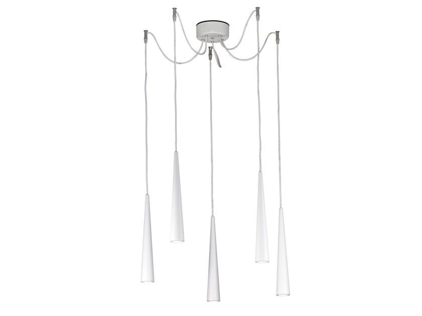 Metal pendant lamp CORVINA | Metal pendant lamp by Rossini Illuminazione
