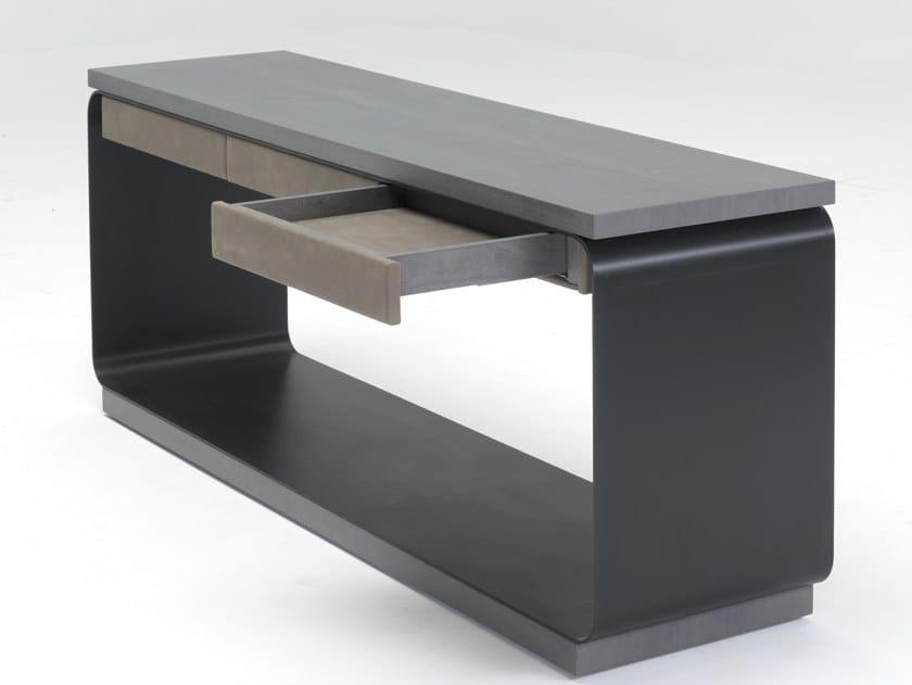 Rettangolare Disegnopiù Consolle Legno Coscienza In E Alluminio Cassetti Con trCdBsxhQ