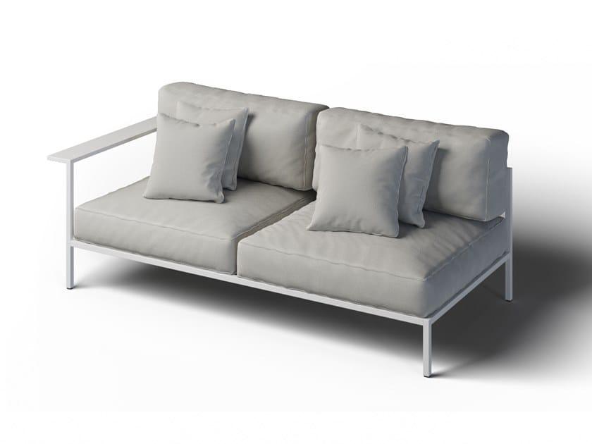 2 seater garden sofa left COSI | 2 seater garden sofa by Laubo