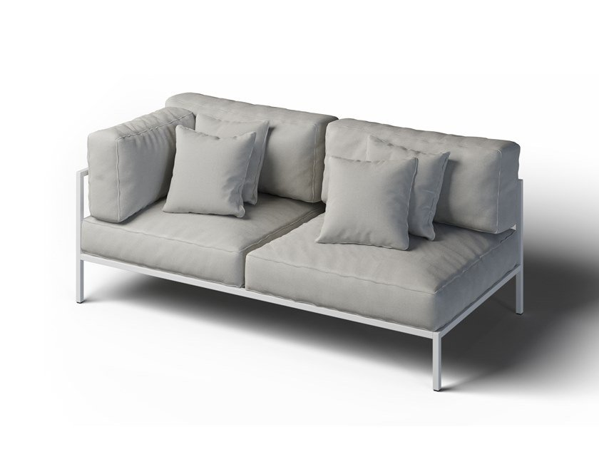 2 seater corner garden sofa left COSI | Corner garden sofa by Laubo