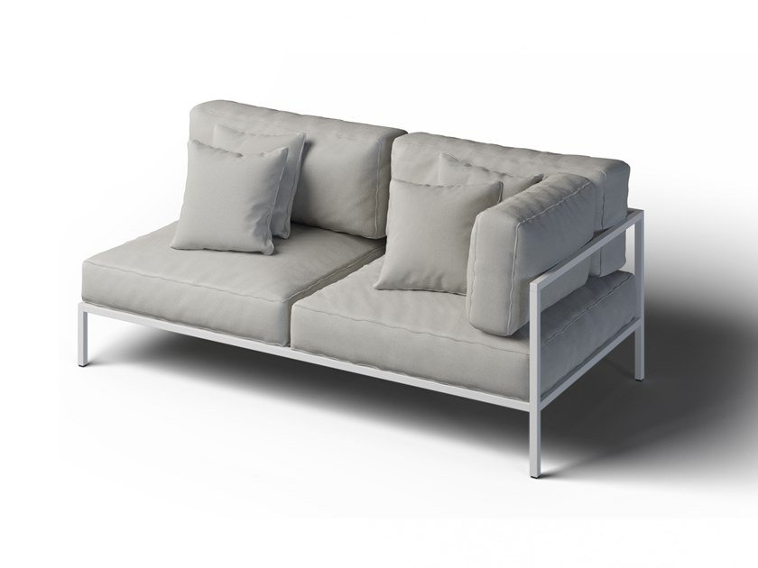 2 seater corner garden sofa right COSI | Corner garden sofa by Laubo