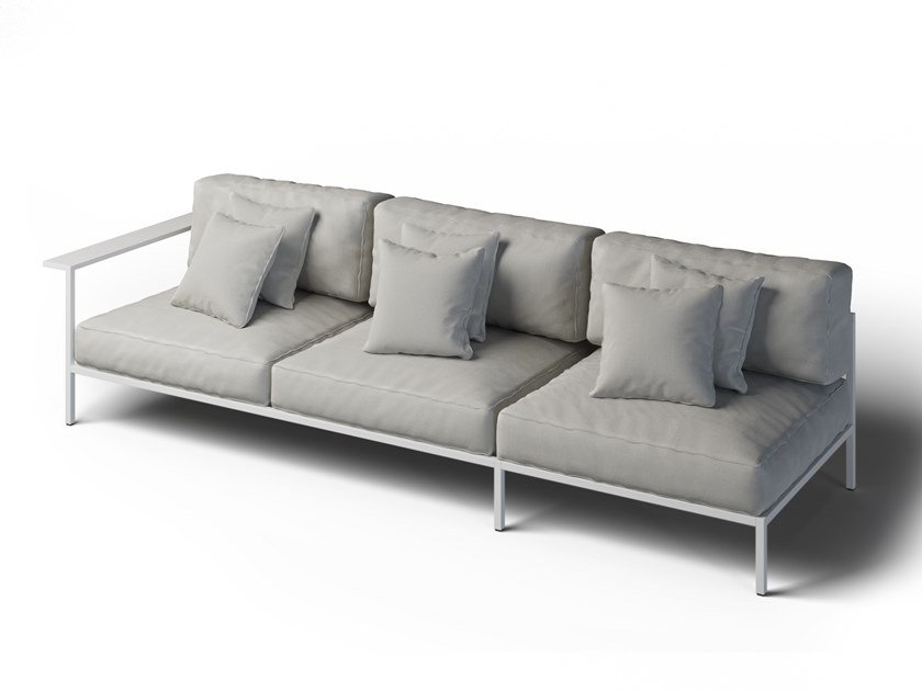 3 seater garden sofa left COSI | Garden sofa by Laubo
