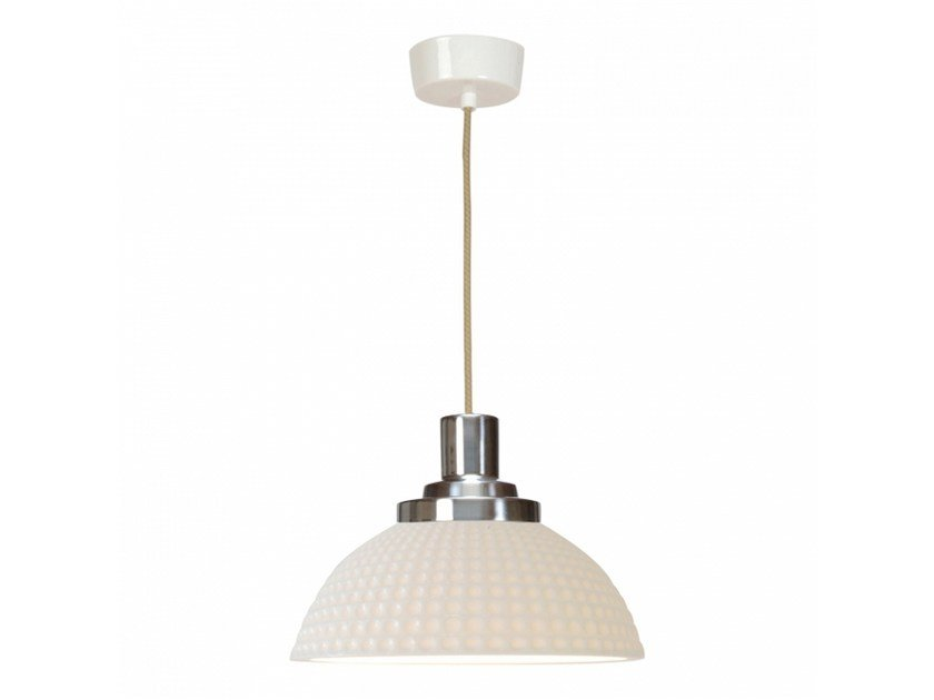 Porcelain pendant lamp with dimmer COSMO DIMPLE | Pendant lamp by Original BTC