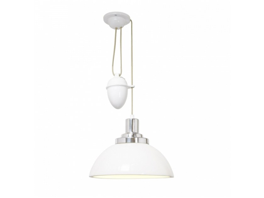 Adjustable porcelain pendant lamp with dimmer COSMO RISE & FALL by Original BTC