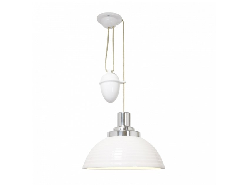 Adjustable porcelain pendant lamp with dimmer COSMO STEPPED RISE & FALL by Original BTC
