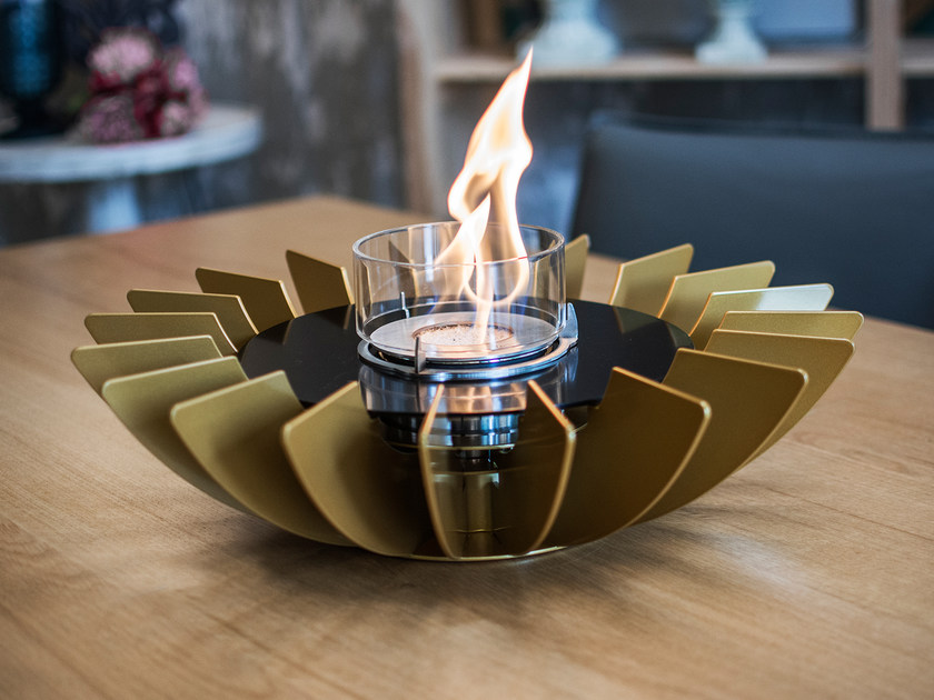 Table-top bioethanol stainless steel fireplace COSMO TABLETOP by GlammFire