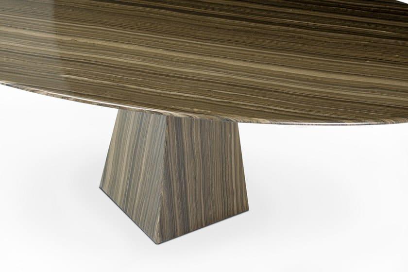 In EramosaTavolino Cosmos Ellittico Design Oia Marmo Basso 92YHWDIE