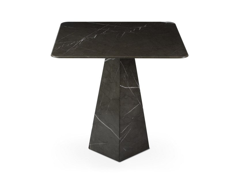 Square Graphite Marble high side table COSMOS GRAPHITE | High side table by OIA Design