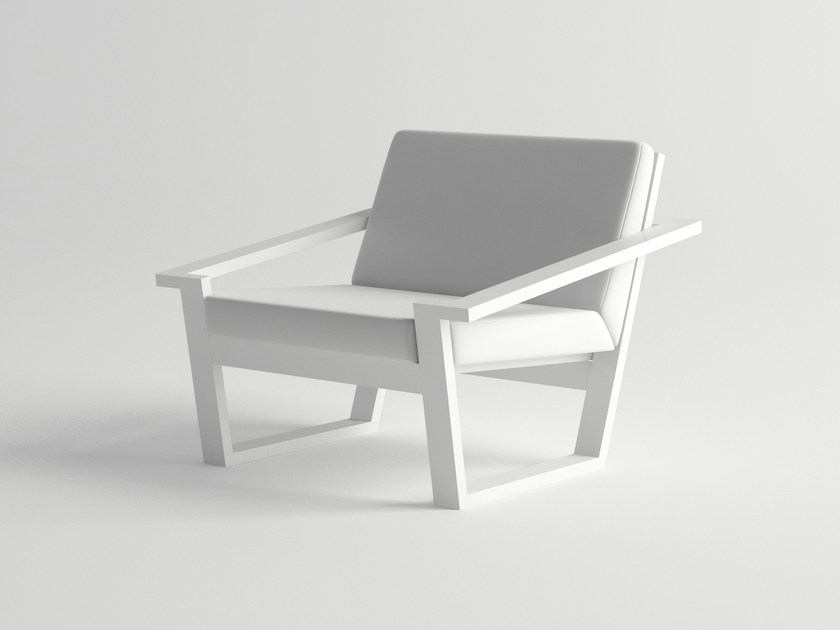 Aluminium garden armchair COSTA | Easy chair by 10Deka