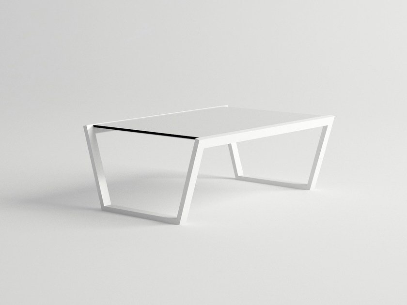 Rectangular aluminium garden side table COSTA | Garden side table by 10Deka