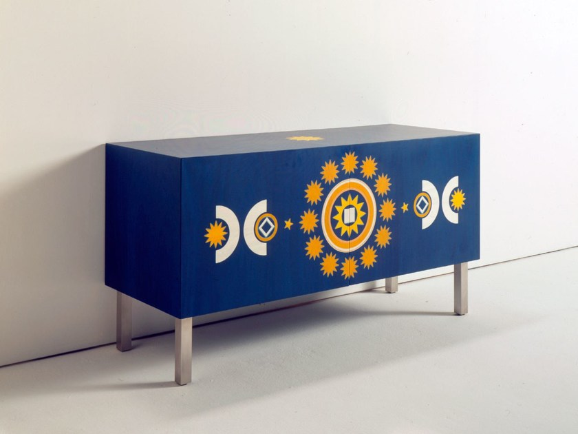 Lacquered Sideboard With Doors Costellazione Metafisica