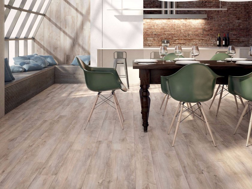 Full-body porcelain stoneware flooring with wood effect COTTAGE | Flooring by Marca Corona