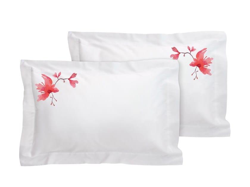 Cotton pillow case set with floral pattern PEACH BLOSSOM | Cotton pillow case by Sans Tabù