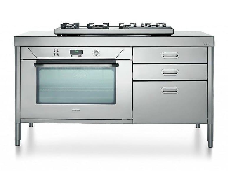 Cucina a libera installazione professionale in acciaio inox ...