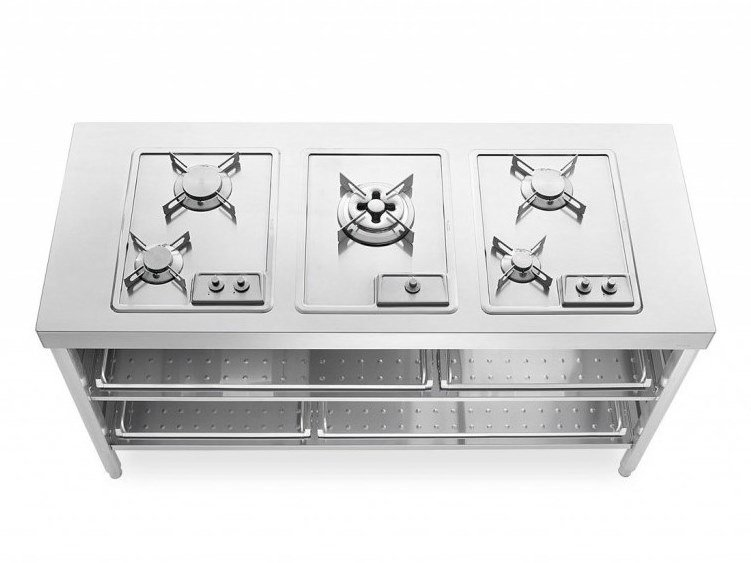Stainless steel Kitchen unit for hob COTTURA 160 | Kitchen unit by ALPES-INOX