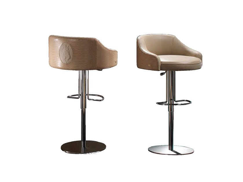 Swivel upholstered leather chair LONDON | Chair by Formitalia