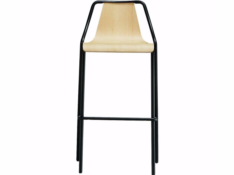 High metal stool with back OLA | High stool by Midj