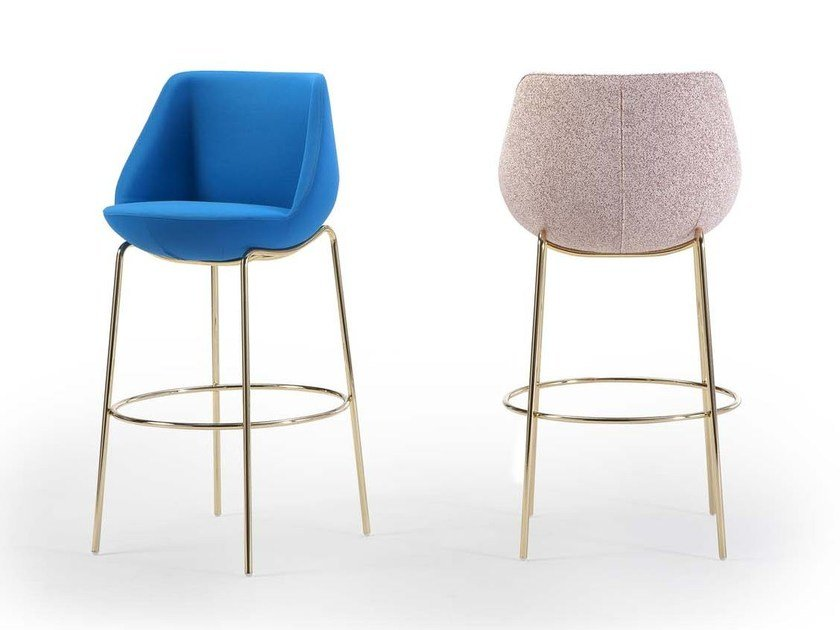 High upholstered stool with footrest MAGNUM | Stool with back by Sancal