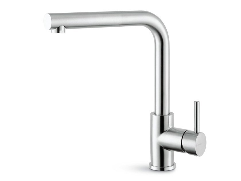 Single handle kitchen mixer tap with swivel spout REAL STEEL | Countertop kitchen mixer tap by newform
