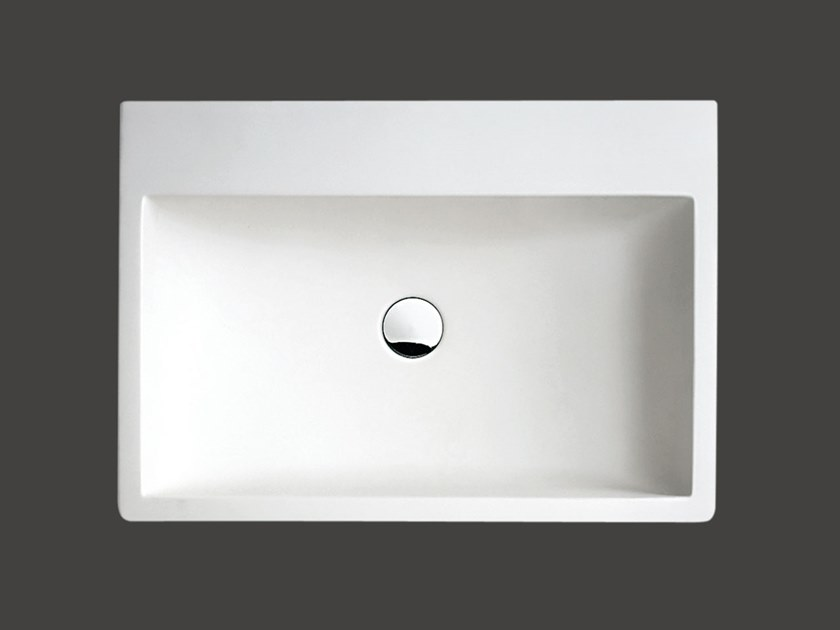 Countertop rectangular Cristalplant® washbasin BLOCK | Countertop washbasin by Agape