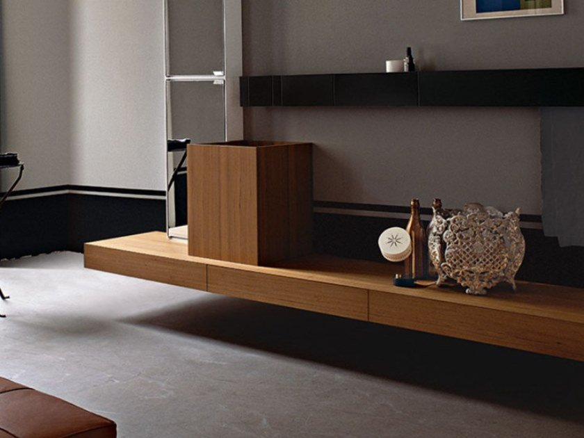 Countertop square multi-layer wood washbasin CUBE | Countertop washbasin by Agape