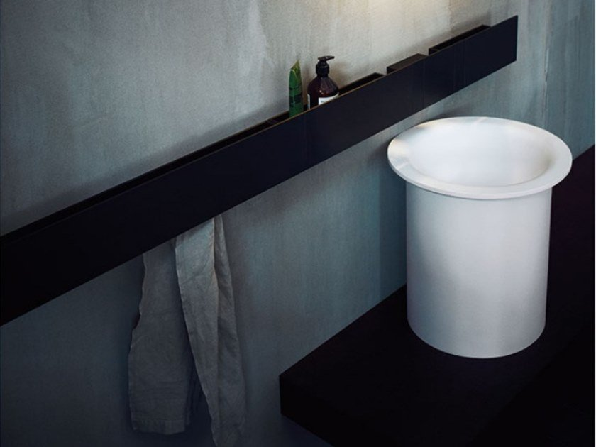Countertop round washbasin IN-OUT | Countertop washbasin by Agape