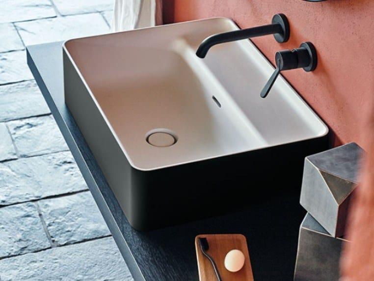 Countertop rectangular Cristalplant® washbasin MARSIGLIA | Countertop washbasin by Agape
