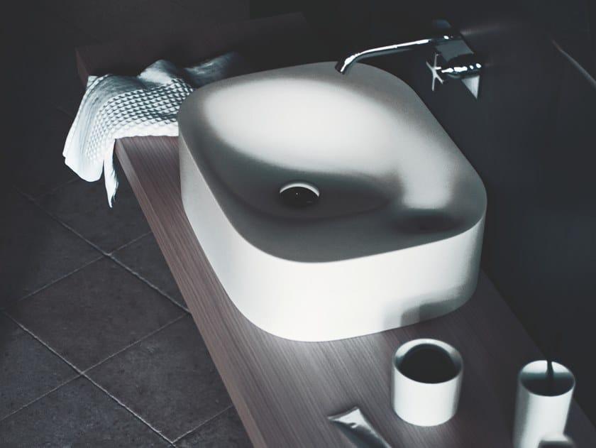Countertop rectangular Cristalplant® washbasin NIVIS | Countertop washbasin by Agape