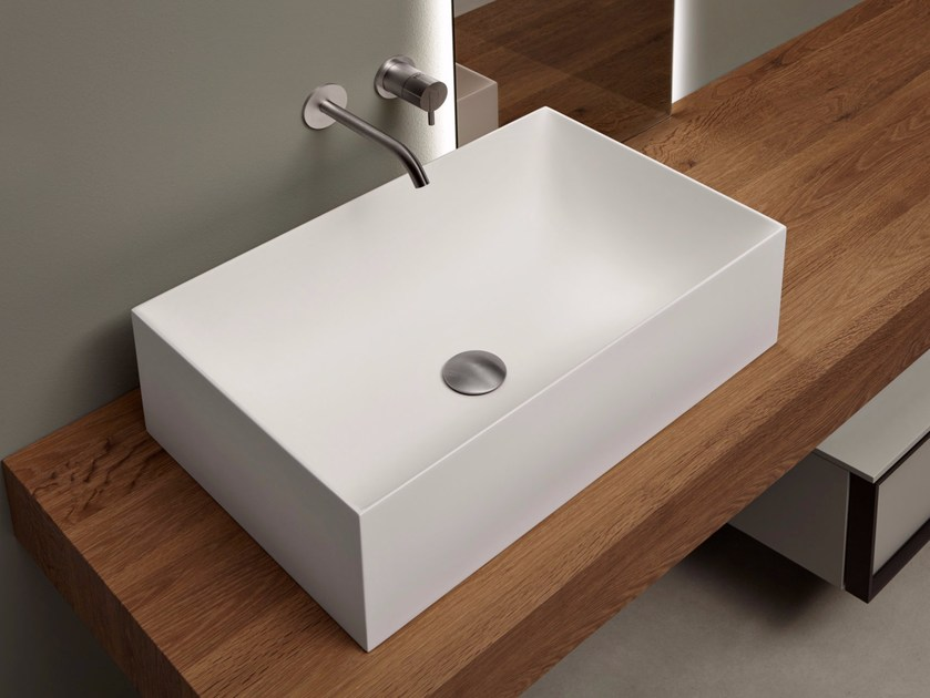 Countertop rectangular Flumood® washbasin STRATOS | Countertop washbasin by Antonio Lupi Design