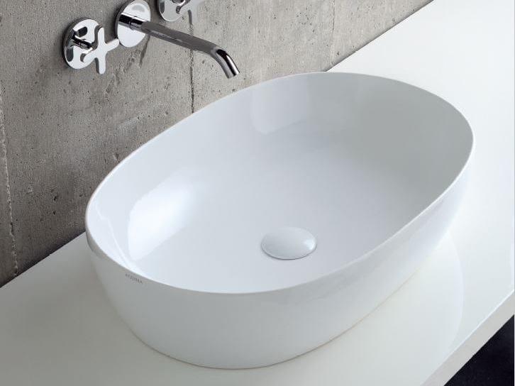 Countertop ceramic washbasin COMODA | Countertop washbasin by AZZURRA sanitari