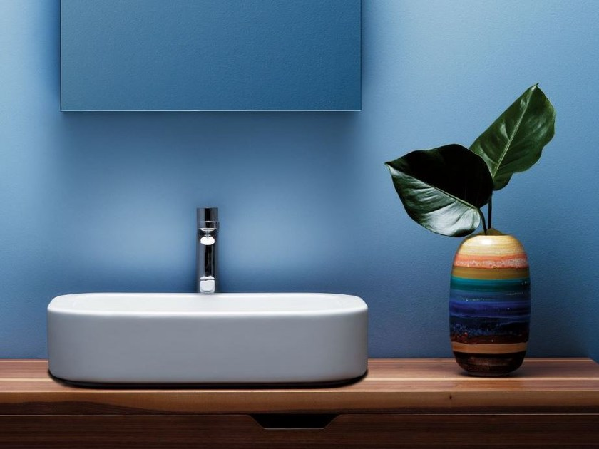 Countertop ceramic washbasin GLAZE | Countertop washbasin by AZZURRA sanitari