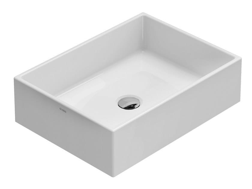Lavabo da appoggio rettangolare in ceramica FORTY3 | Lavabo da appoggio by Ceramica Globo