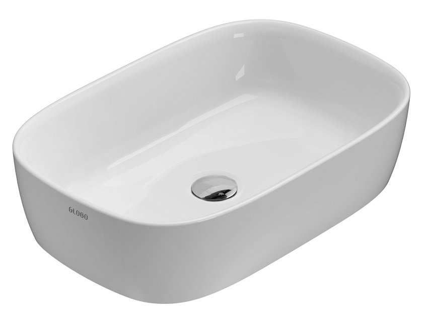 Countertop rectangular ceramic washbasin GENESIS | Countertop washbasin by Ceramica Globo