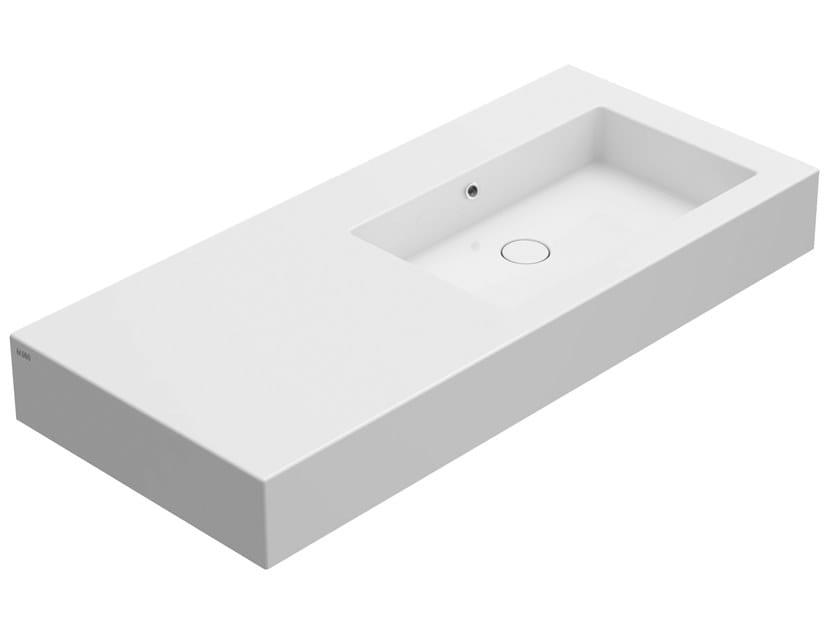 Countertop rectangular ceramic washbasin INCANTHO   Countertop washbasin by Ceramica Globo