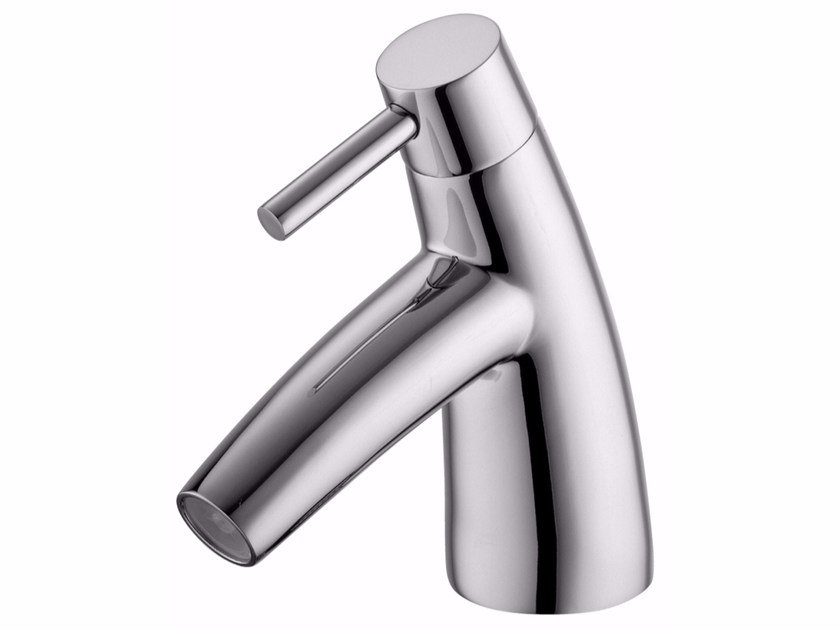 Countertop single handle 1 hole chromed brass washbasin mixer TAI CHI   Countertop washbasin mixer by JUSTIME