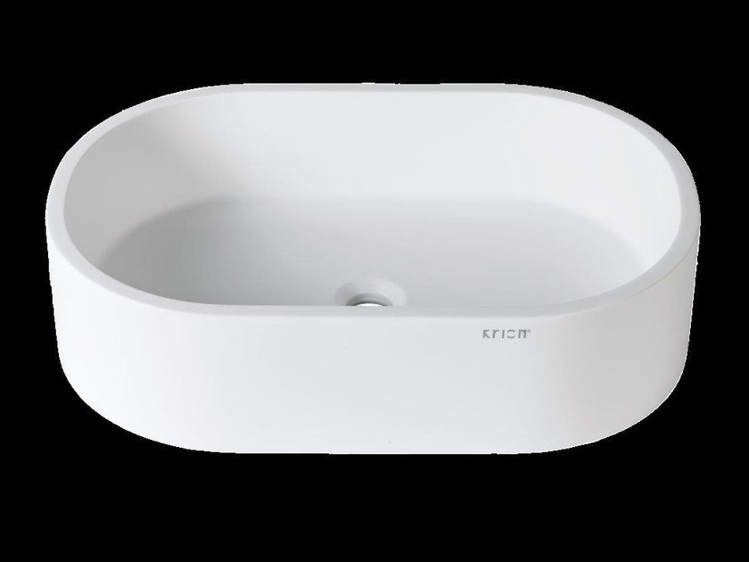 Countertop oval Krion® washbasin 3-WAY | Countertop washbasin by Systempool