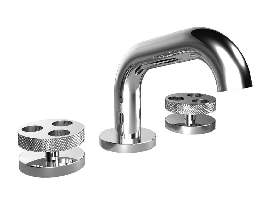 Countertop brass washbasin tap BOWLING   Countertop washbasin tap by Bongio