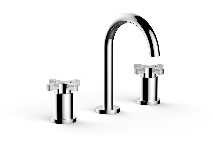 3 hole washbasin tap with individual rosettes SIMPLE | Countertop washbasin tap by RUBINETTERIE STELLA