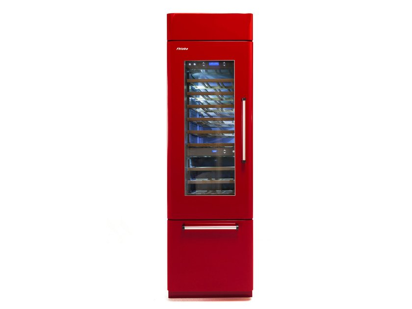 Wine cooler with glass door with built-in lights COUNTRY 60   Wine cooler by FHIABA