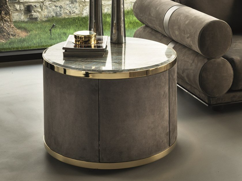 Leather coffee table / bar cabinet COURBET | Bar cabinet by Longhi