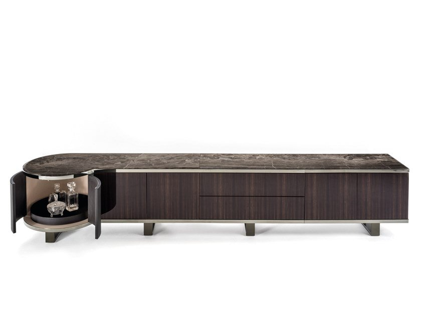 Wooden sideboard with doors COURBET | Wooden sideboard by Longhi