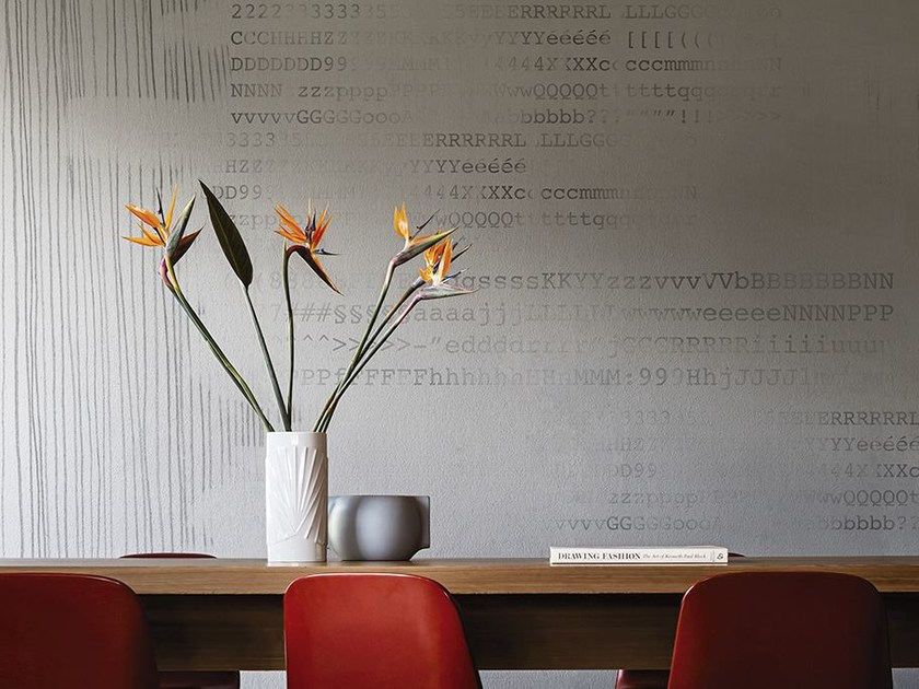 Writing wallpaper COURIER LINES by Wall&decò